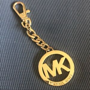 Michael Kors keychain- gold